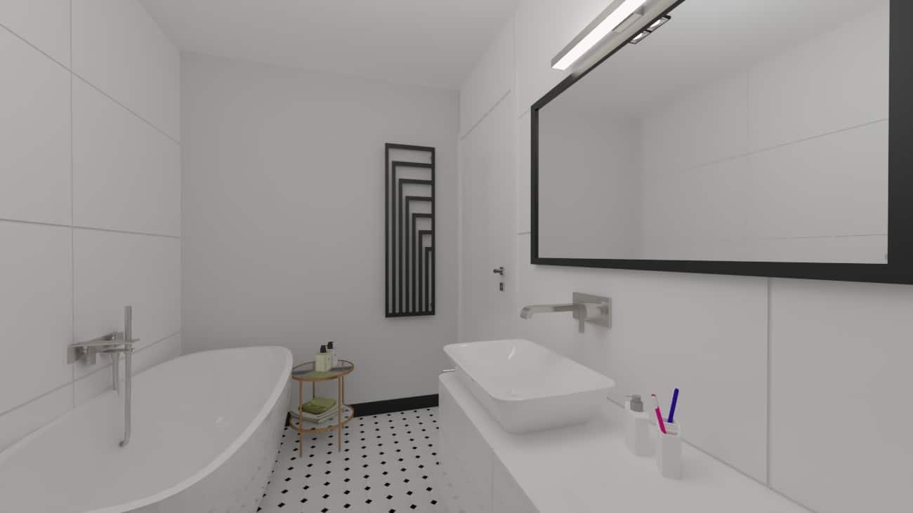 Łazienka wprzedwojennym klimacie