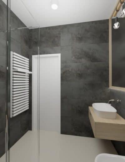 projektanci wnętrz zielono szara lazienka z lustrem toaleta umywalka 1g 1024x576 1 Łazienka butelkowa zieleń