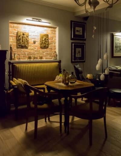 projektanci wnętrz A013 salon pomorze zachodnie Salon z cegłą Pomorze Zachodnie