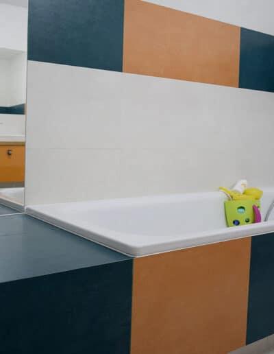 projektanci wnętrz D001 lazienka mieszkanie raszyn Łazienka dziecięca w Raszynie