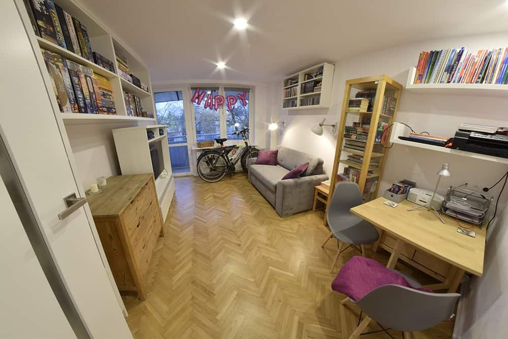 projektanci wnętrz Mieszkanie Lotarynsaka pokoj 1a Pokój mieszkanie Lotaryńska