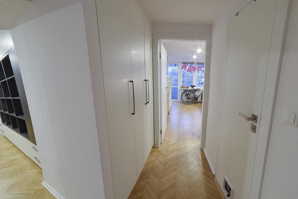 projektanci wnętrz Mieszkanie Lotarynsaka przedpokoj 1b Przedpokój mieszkanie Lotaryńska
