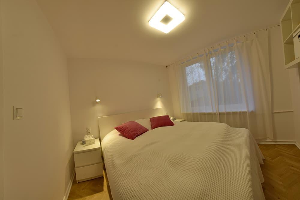 projektanci wnętrz Mieszkanie Lotarynsaka sypialnia 2a Sypialnia mieszkanie Lotaryńska