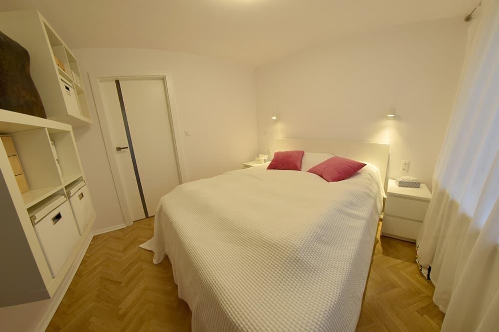projektanci wnętrz Mieszkanie Lotarynsaka sypialnia 2b Sypialnia mieszkanie Lotaryńska