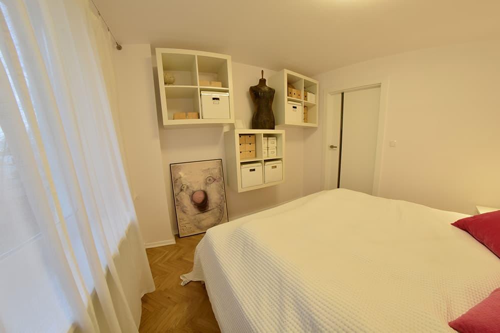 projektanci wnętrz Mieszkanie Lotarynsaka sypialnia 2c Sypialnia mieszkanie Lotaryńska