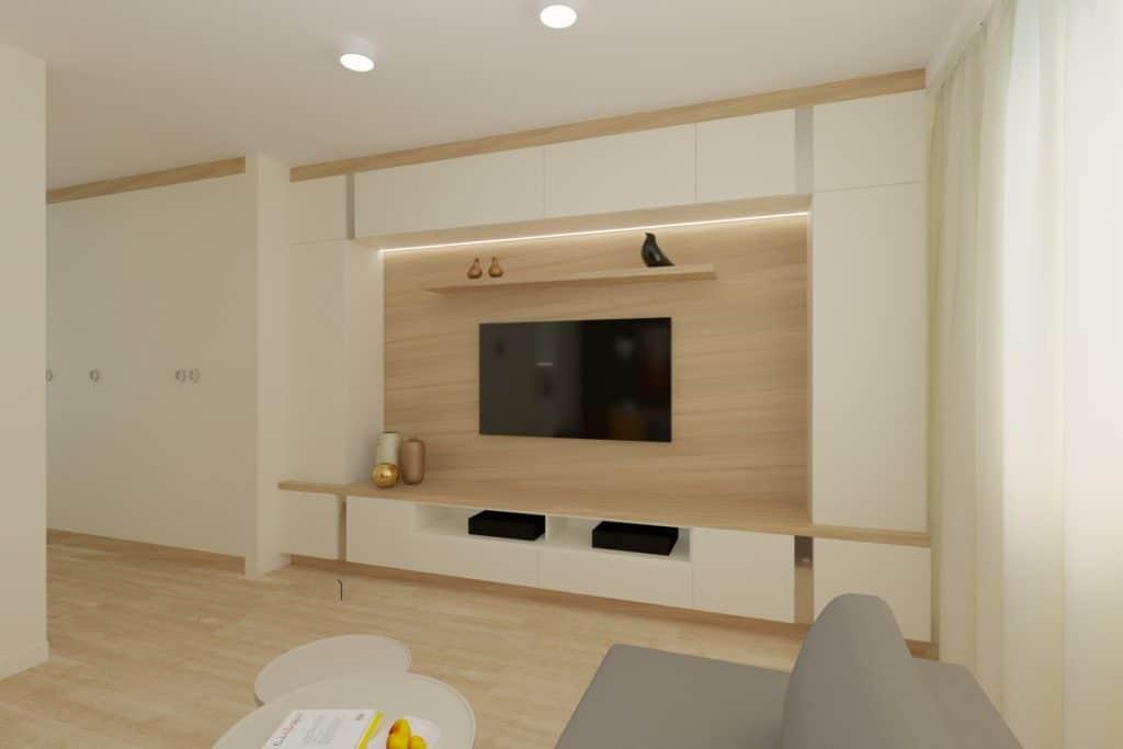 projektanci wnętrz Mieszkanie Ursynów 4A Salon z kuchnią Ursynów