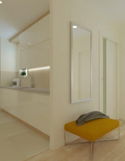 projektanci wnętrz Mieszkanie Ursynów 6A Salon z kuchnią Ursynów