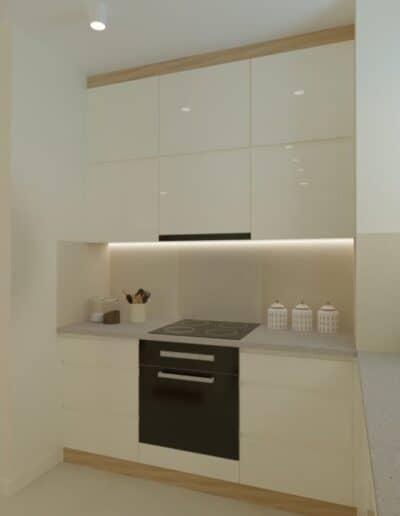 projektanci wnętrz Mieszkanie Ursynów 7A Salon z kuchnią Ursynów
