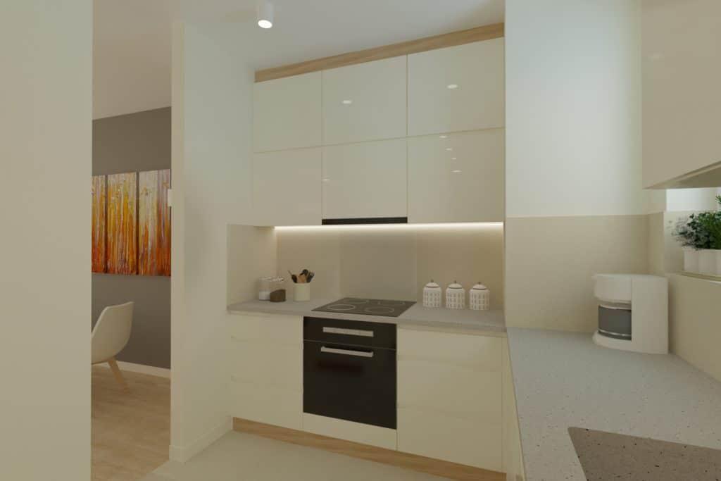 projektanci wnętrz Mieszkanie Ursynów 7A Kuchnia z salonem Ursynów