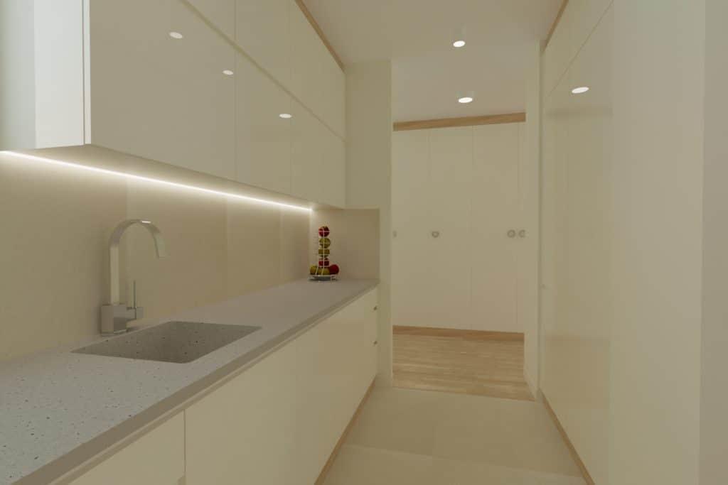 projektanci wnętrz Mieszkanie Ursynów 8A Salon z kuchnią Ursynów