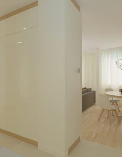 projektanci wnętrz Mieszkanie Ursynów 9A Salon z kuchnią Ursynów