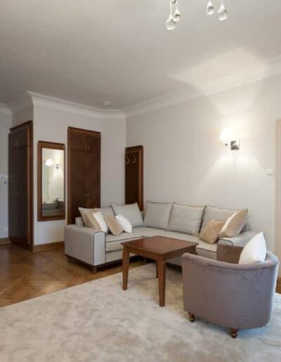projektanci wnętrz Palac Cielesnica apartament deluxe 1C Apartamenty Deluxe Pałac Celeśnica