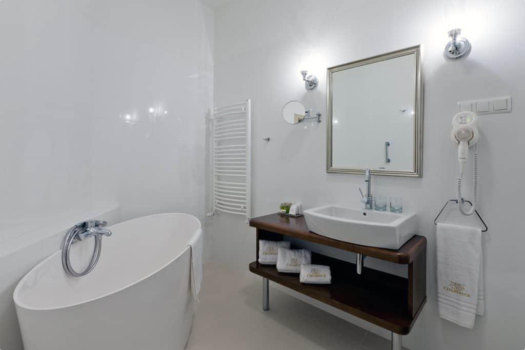 projektanci wnętrz Palac Cielesnica apartament deluxe 1F Łazienka Apartament Deluxe Pałac Celeśnica