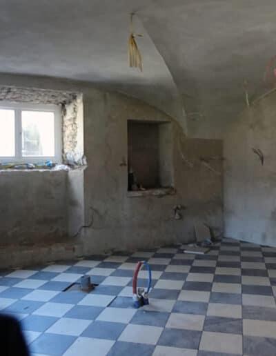 projektanci wnętrz Palac Cielesnica piwnice remont A008 Pomieszczenia piwniczne Pałac Celeśnica