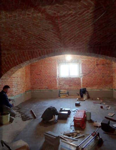 projektanci wnętrz Palac Cielesnica piwnice remont A011 Pomieszczenia piwniczne Pałac Celeśnica