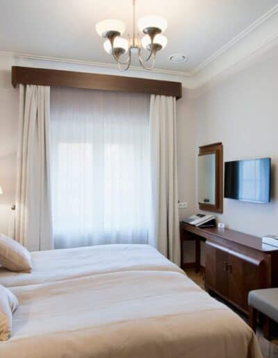projektanci wnętrz Palac Cielesnica pokoj twin standard 6A Pokoje Pałac Celeśnica