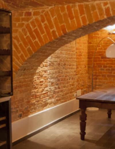 projektanci wnętrz Palac Cielesnica pomieszczenia piwniczne 1F Pomieszczenia piwniczne Pałac Celeśnica