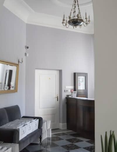 projektanci wnętrz Palac Cielesnica recepcja A4 Hol z łazienką Pałac Celeśnica