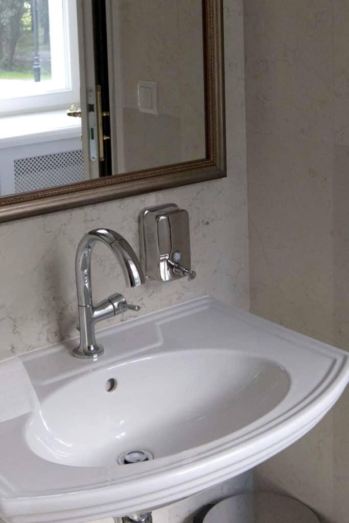 projektanci wnętrz Palac Cielesnica recepcja A5 Hol z łazienką Pałac Celeśnica