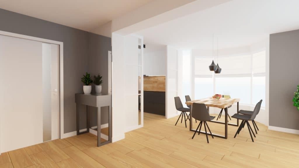 projektanci wnętrz dom nadarzyn salon 1d Dom Nadarzyn kuchnia