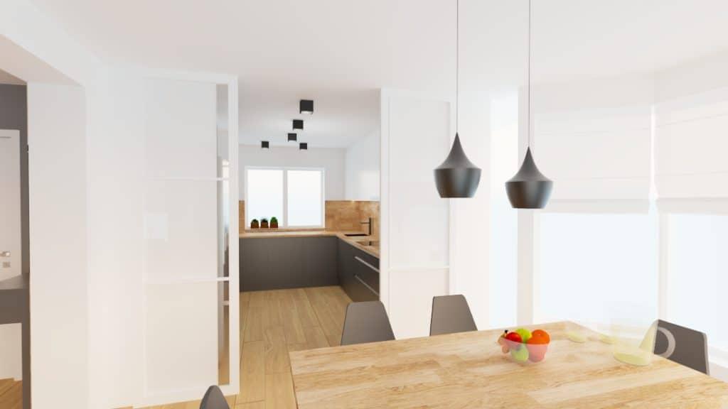 projektanci wnętrz dom nadarzyn salon 1f Dom Nadarzyn kuchnia