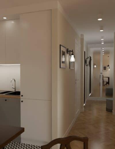 projektanci wnętrz kuchnia z salonem styl retro 1d Salon retro otwarty na kuchnię