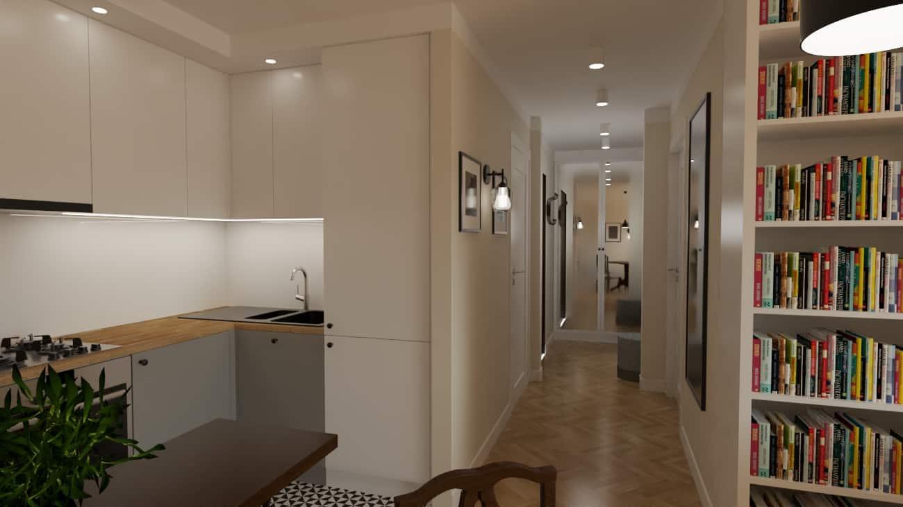 projektanci wnętrz kuchnia z salonem styl retro 1d Kuchnia z salonem w stylu retro