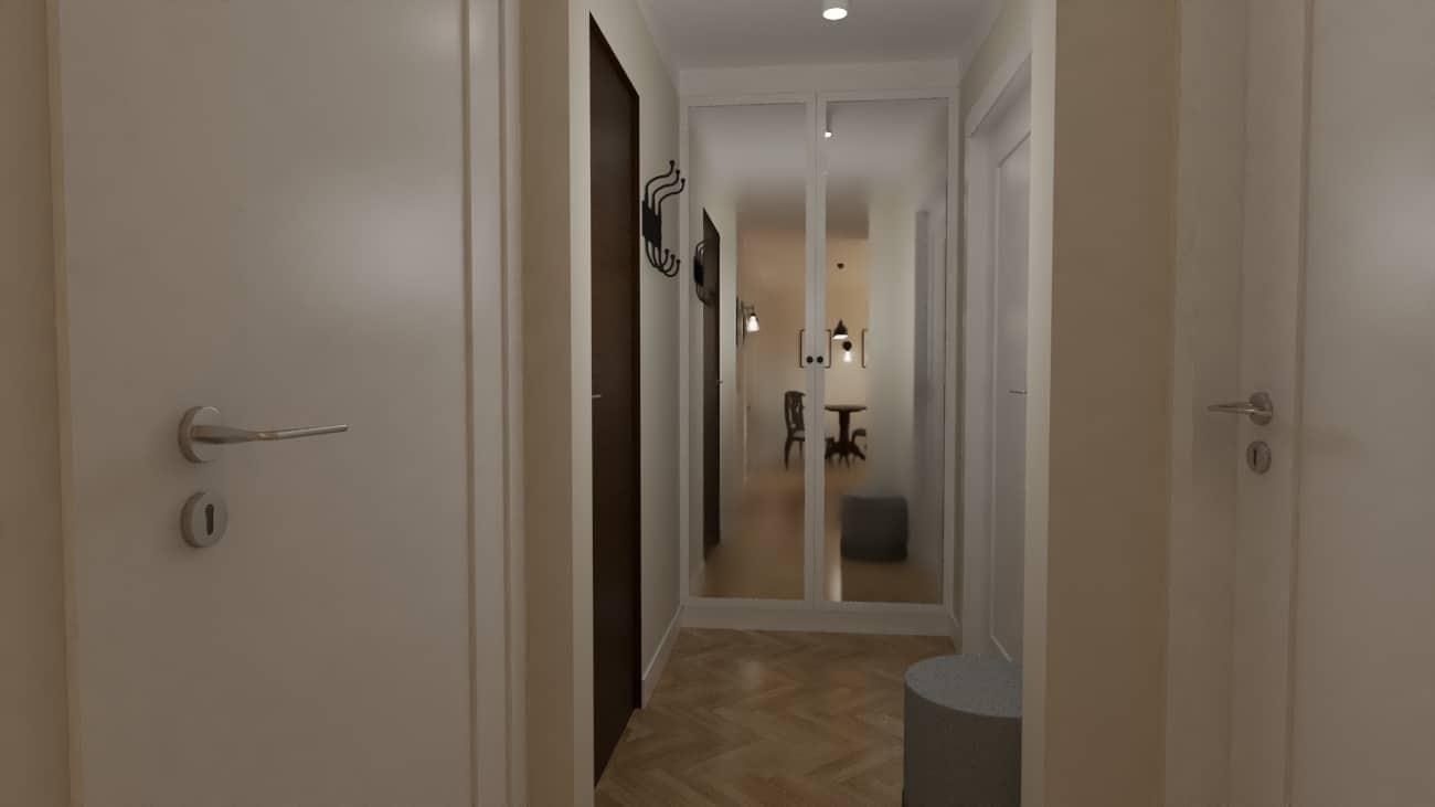 projektanci wnętrz kuchnia z salonem styl retro 1e Salon retro otwarty na kuchnię