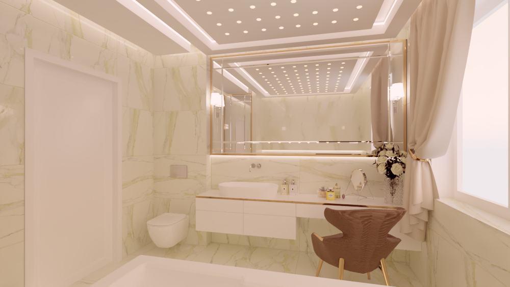 Łazienka elegancki salon