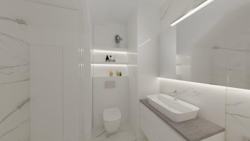 projektanci wnętrz lazienka goscinna dol 1a Mała łazienka dla gości