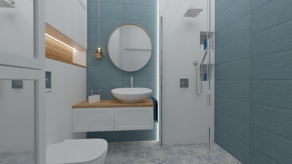 Łazienka jasno-niebieska