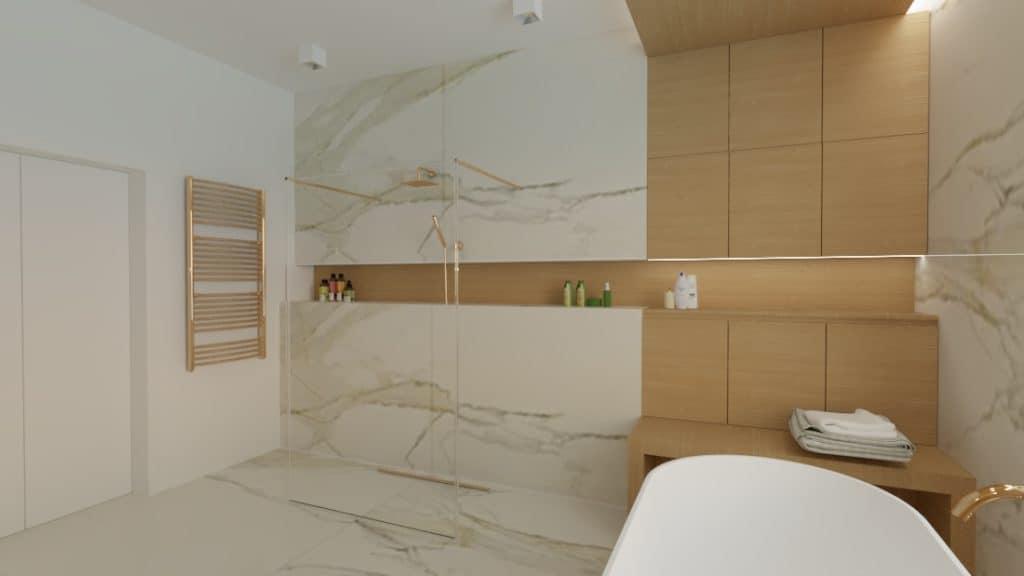 projektanci wnętrz lazienka salon kompielowy 1b Łazienka jako salon kąpielowy