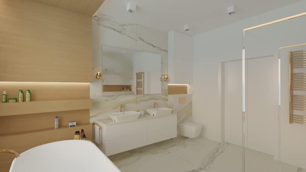 projektanci wnętrz lazienka salon kompielowy 1d Łazienka jako salon kąpielowy