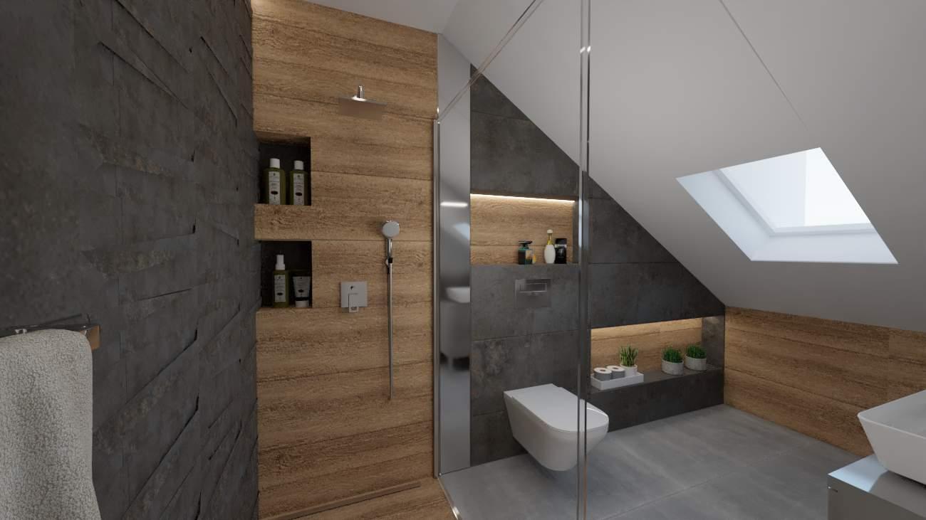 projektanci wnętrz lazienka szare meble 1e Mała łazienka białe szafki