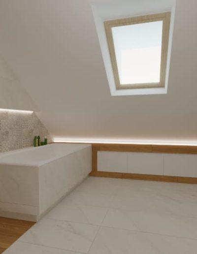 projektanci wnętrz lazienka w nadarzynie poddasze 1d Łazienka w Nadarzynie usytuowana na poddaszu