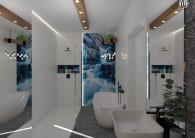 Łazienka z wodospadem