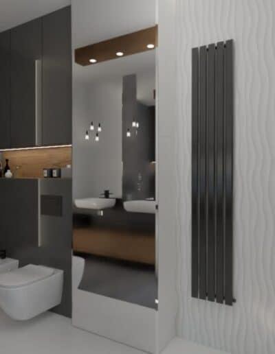 projektanci wnętrz lazienka z lustrem i wodospadem 1e Łazienka z wodospadem