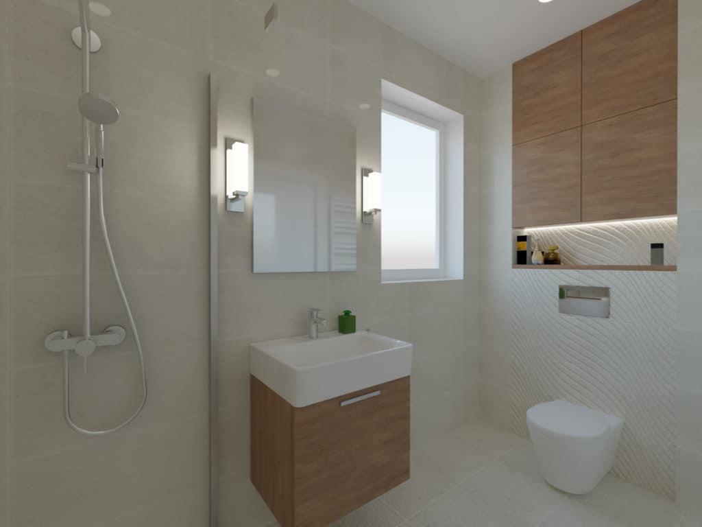 Łazienka w piaskowych kolorach