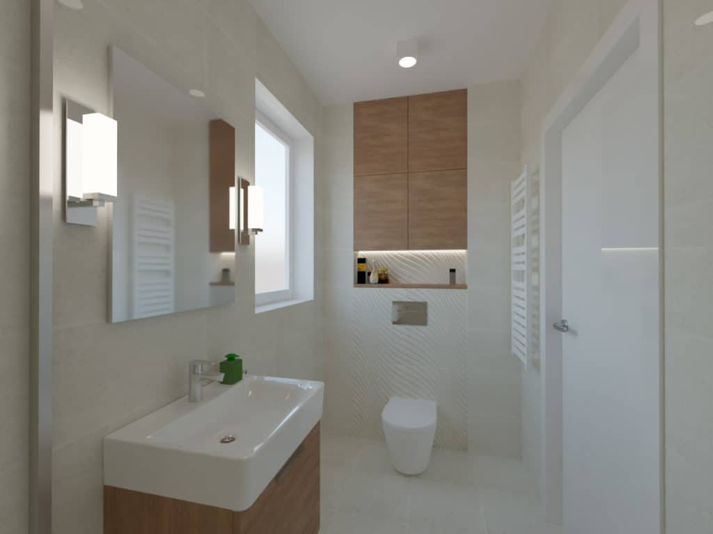 projektanci wnętrz lazienka z prysznicem fale 1c Łazienka w piaskowych kolorach