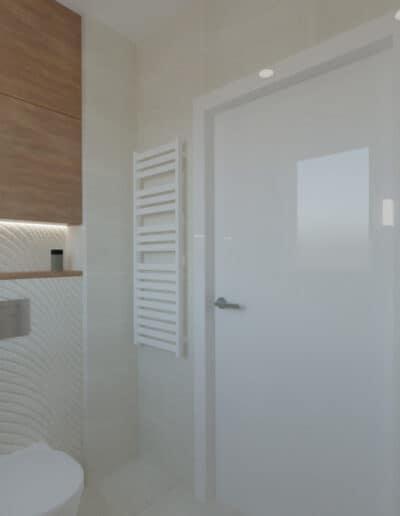 projektanci wnętrz lazienka z prysznicem fale 1d Łazienka w piaskowych kolorach