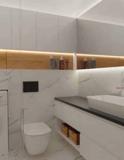 projektanci wnętrz lazienka z prysznicem goclaw 1a Łazienka z prysznicem na Gocławiu