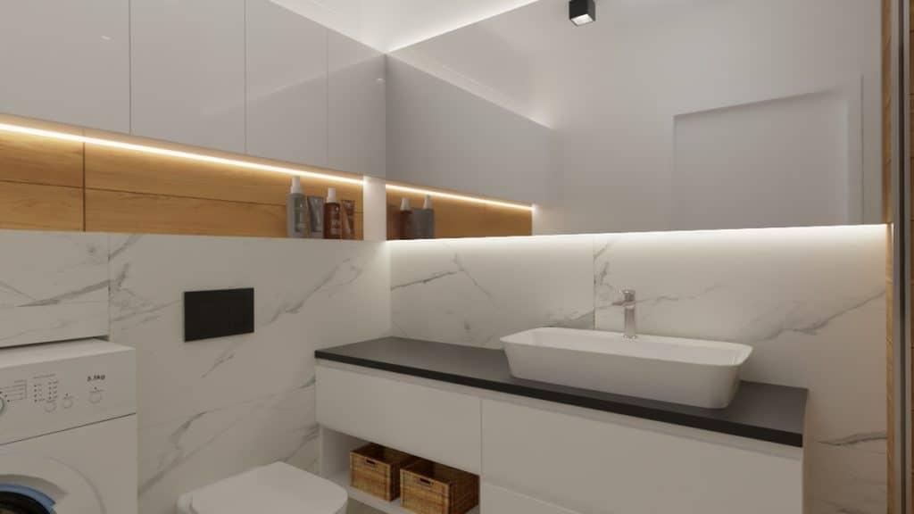 projektanci wnętrz lazienka z prysznicem goclaw 1b Łazienka z prysznicem na Gocławiu