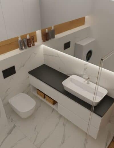 projektanci wnętrz lazienka z prysznicem goclaw 1c Łazienka z prysznicem na Gocławiu