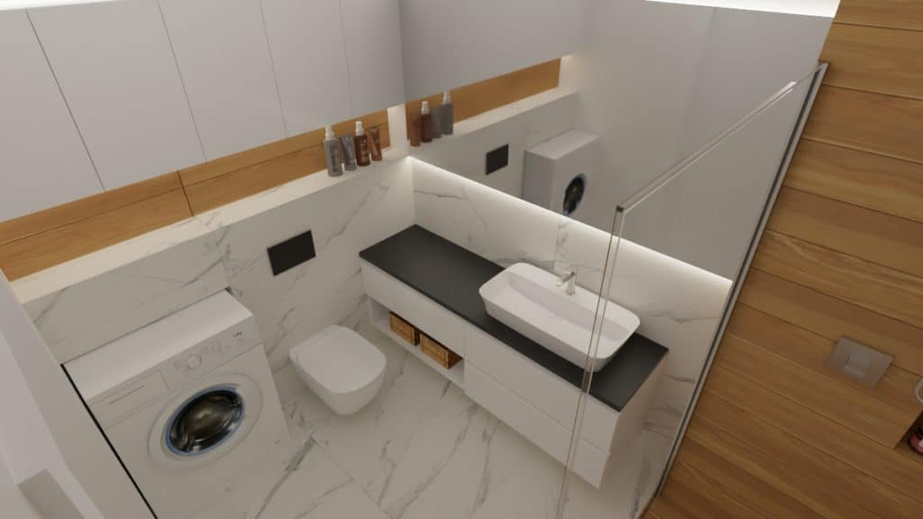 Łazienka z prysznicem na Gocławiu