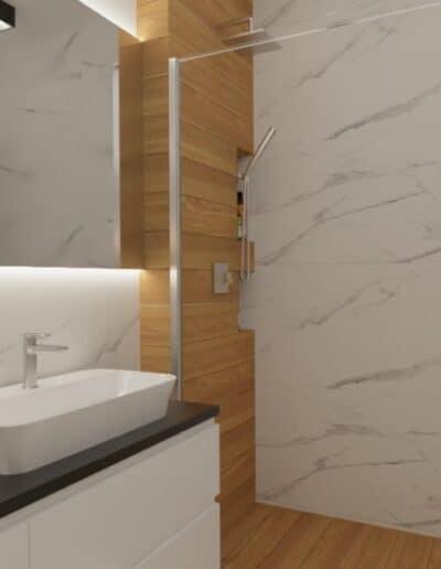 projektanci wnętrz lazienka z prysznicem goclaw 1d Łazienka z prysznicem na Gocławiu