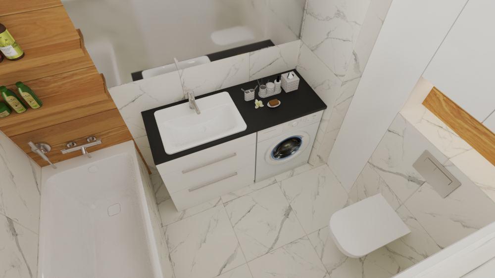 Łazienka marmur idrewno