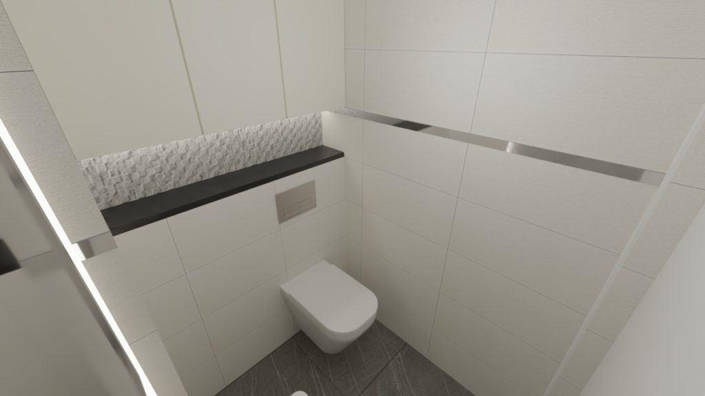 projektanci wnętrz lazienka z wc szara 1c Łazienka szara struktura