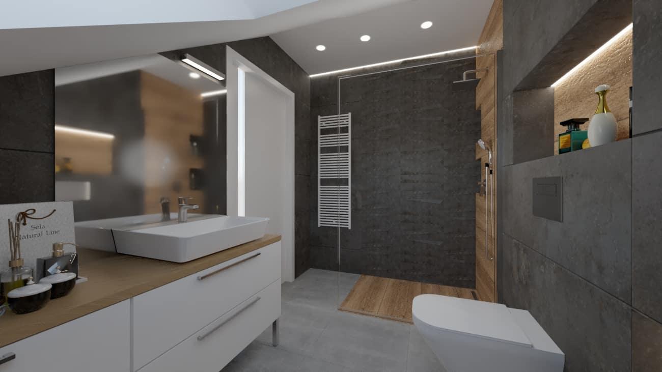 projektanci wnętrz mala lazienka biale szafki 1a Mała łazienka białe szafki