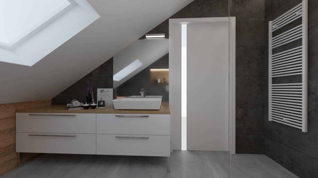 projektanci wnętrz mala lazienka biale szafki 1b Mała łazienka białe szafki
