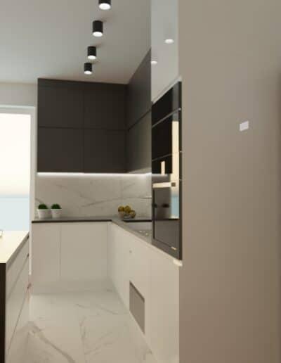 projektanci wnętrz mieszkanie na goclawiu 1c Mieszkanie na Gocławiu salon kuchnia